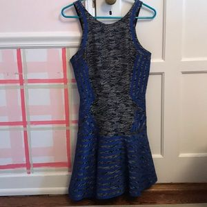 Parker Grey & Blue Dress
